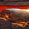 Arch Light. Photo of Mesa Arch at Canyonlands National Park in Utah.