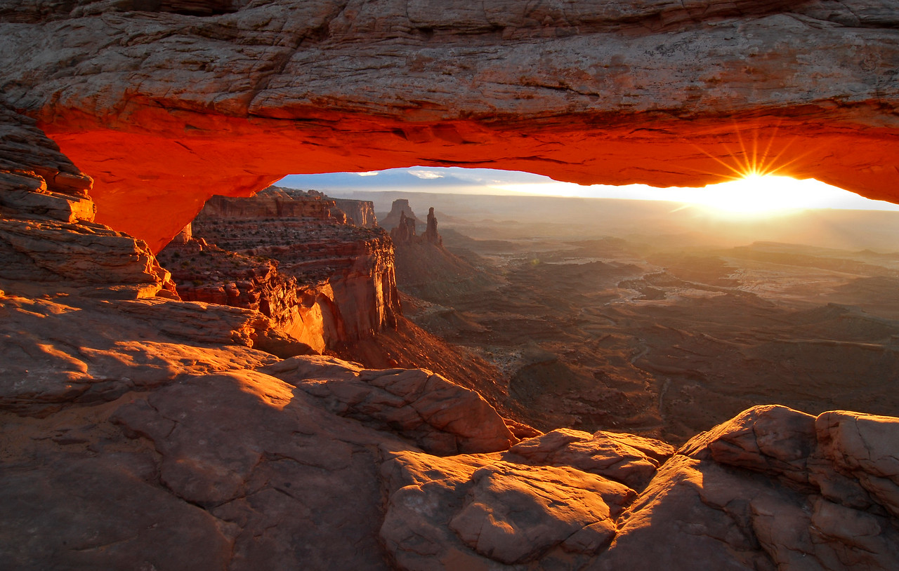 Arch Light. Photo of Mesa Arch at Canyonlands National Park in Utah. Photo by Mike Reid, All Outdoor Photography Boise.