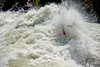 Evan Garcia in Juicer Rapid at 8000cfs. North Fork of the Payette Rier, Idaho Whitewater. Photo by Mike Reid.