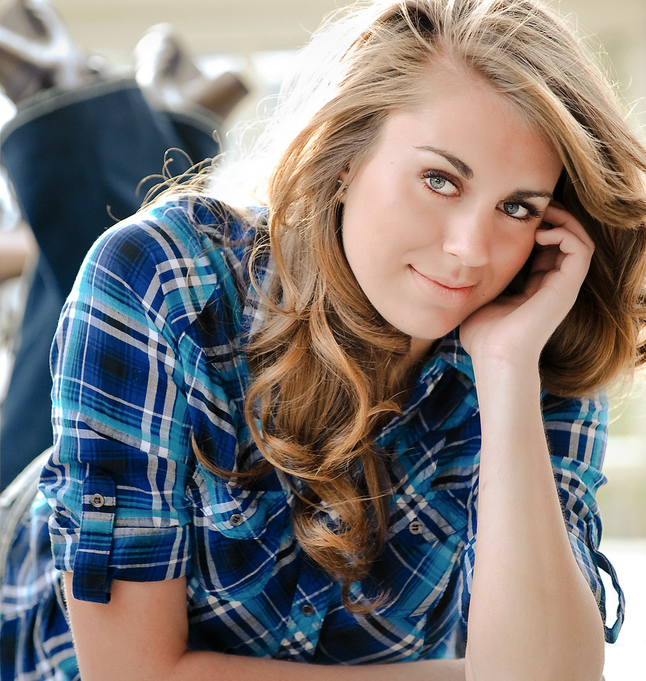 Senior portrait with Megan.<br /> Outdoor portrait at The Bishop's House Boise, by Mike Reid, All Outdoor Photography.