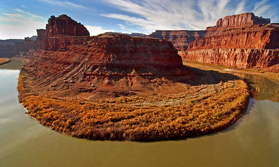 Horseshoe Bend below Deadhorse Point Utah