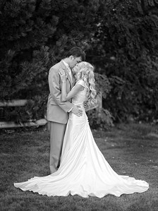 Bride and groom portrait. By Mike Reid, Boise wedding photographer.