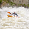 Ryan Casey entering Juicer at 8000cfs. North Fork of the Payette, photo by Mike Reid.